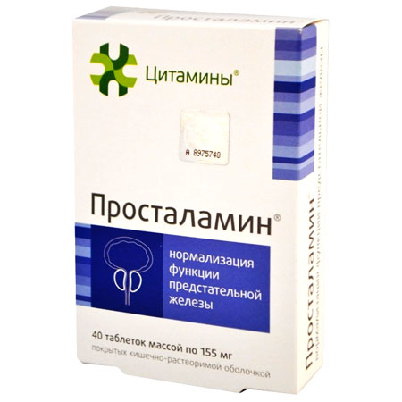 Prostalamin - bioregulator of prostate.